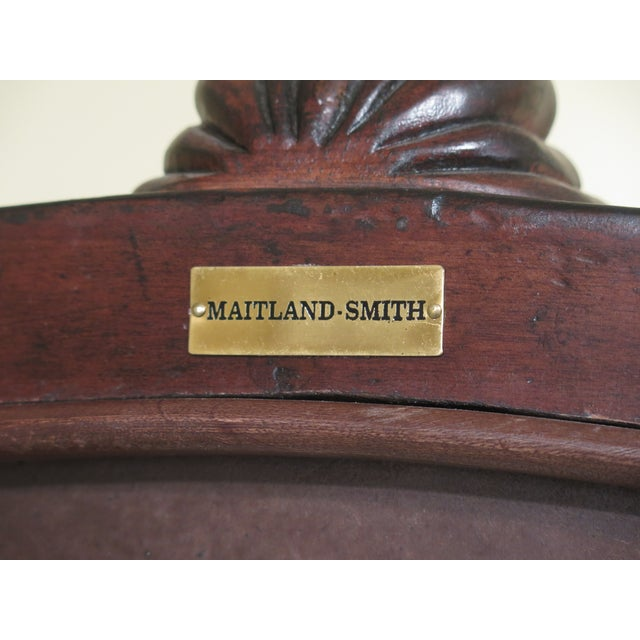 Maitland Smith Mahogany Cheval Dressing Mirror For Sale - Image 11 of 12