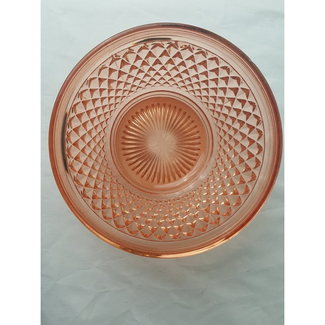 Traditional Cambridge Stratford Peach Blo Bowl For Sale - Image 3 of 5