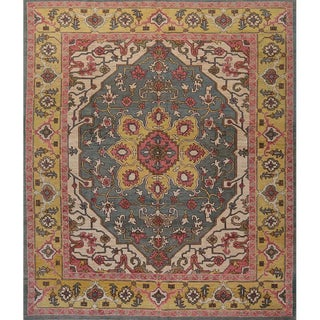 """Traditional Handwoven Turkish Oushak Area Rug 11'3""""x13'5"""" For Sale"""