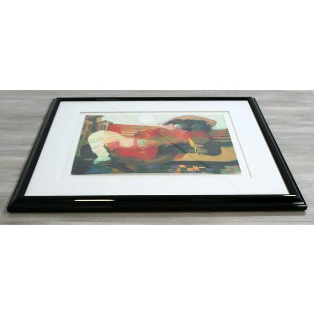 Modern Contemporary Framed Serigraph Signed by Hessam Abrishami Spring Affair 231/395 For Sale - Image 3 of 7
