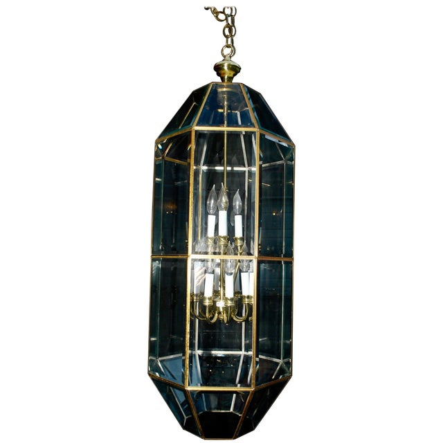 1980s Brass Lantern For Sale - Image 5 of 5