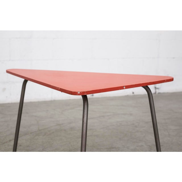Retro Red Triangle Side Table - Image 7 of 11