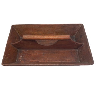 19th Century Primitive Wooden Knife Tray With Handle For Sale