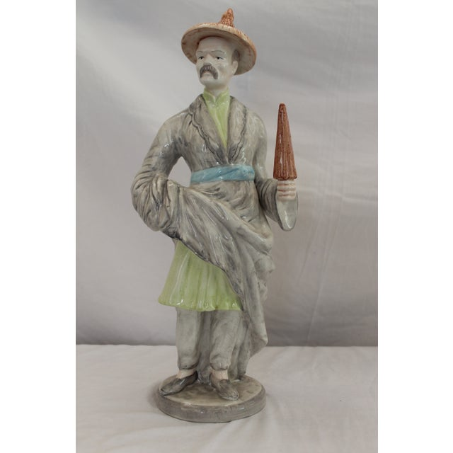 Chinese Ceramic Male Figurine For Sale - Image 12 of 12