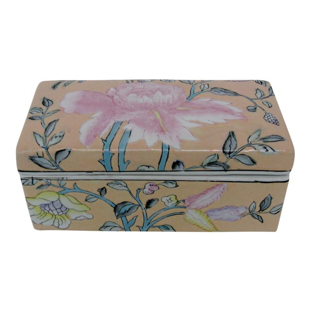 Chinese Porcelain Lotus Box For Sale