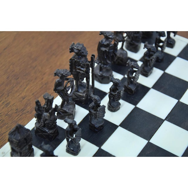 White 1930 Belgian Congo Ivory Chess Set For Sale - Image 8 of 10