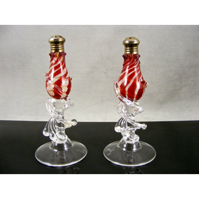 Modern Signed Gazelle Studio Art Glass Salt & Pepper Shakers - A Pair For Sale - Image 3 of 4