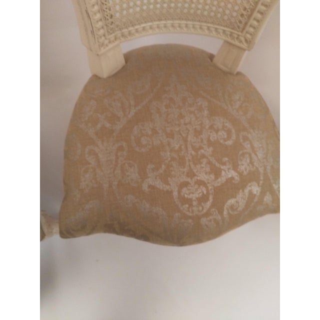 White French Cane Back Chairs - Set of 3 For Sale In San Francisco - Image 6 of 9