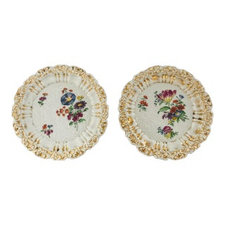 19th Century Meissen Cabinet Plates - a Pair For Sale