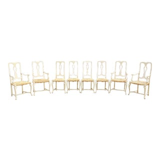 1960s Vintage Painted Dining Chairs- Set of 8 For Sale