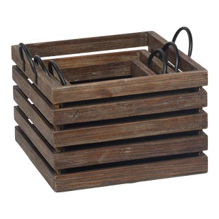Reclaimed Wood Crates (Set of Three) For Sale
