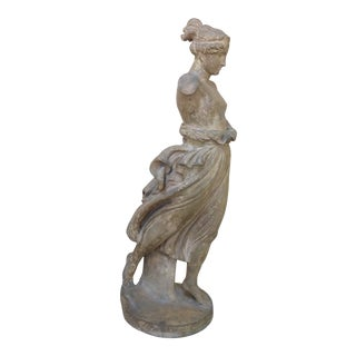 Early 20th Century Life Size Antique Neoclassical Inspired Terra Cotta Sculpture For Sale