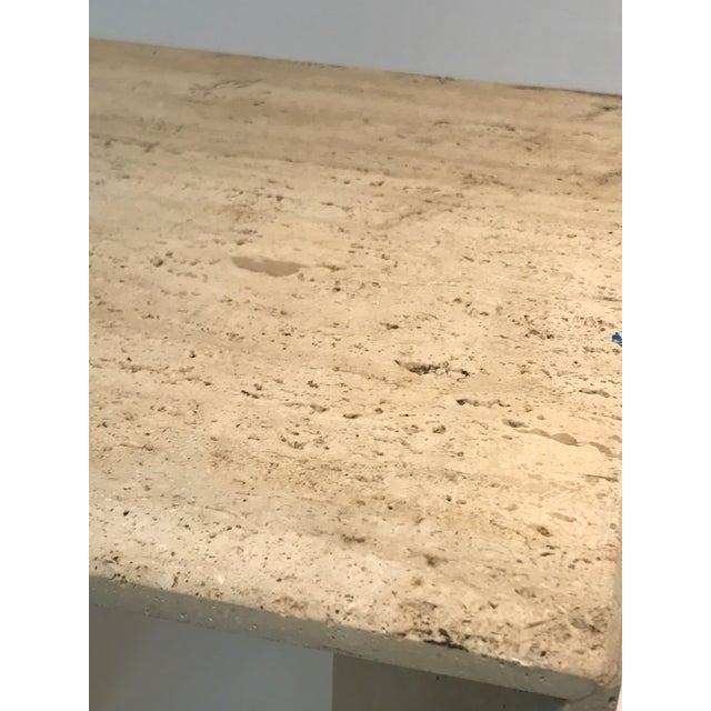Stone Fabulous Italian Travertine Accent Table or Side Table For Sale - Image 7 of 10