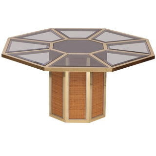 Italian Glam Octagonal Dining Table by Romeo Rega For Sale