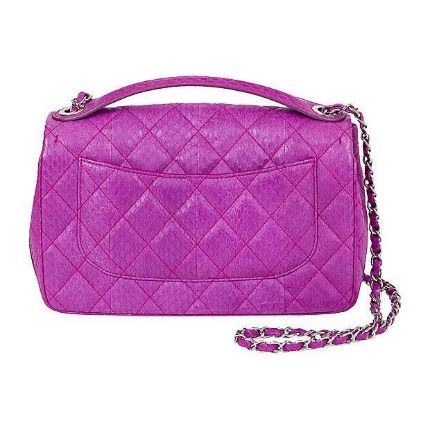 ab77bb97a4a Contemporary Chanel Purple Python Flap Bag For Sale - Image 3 of 8