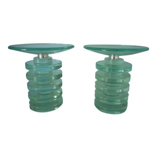 Mid-Century Candle Holders - a Pair