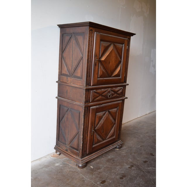 19th Century French Country Walnut Armoire For Sale - Image 4 of 12