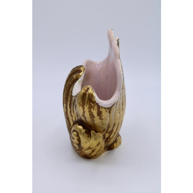 Mid 20th Century Mid-20th Century Italian Ceramic Shell Cachepot Planter For Sale - Image 5 of 13