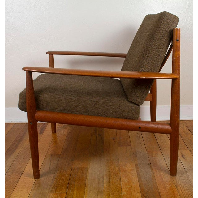 France & Son 1960s Vintage Grete Jalk for France & Son Danish Modern Lounge Chairs - A Pair For Sale - Image 4 of 13