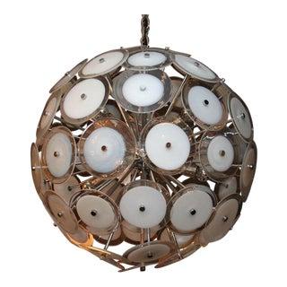 White Disc Sputnik Chandelier For Sale