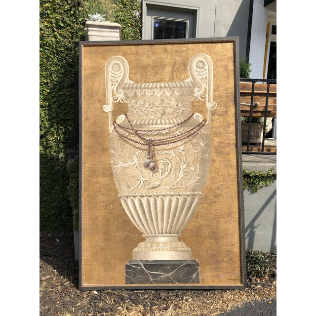 Large Jacques Lamy Urn Painting For Sale - Image 13 of 13