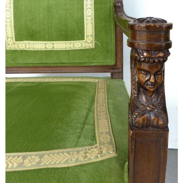 Textile 20th Century Renasaince Cocheo Bros, Fine Quality Chairs - A Pair For Sale - Image 7 of 11