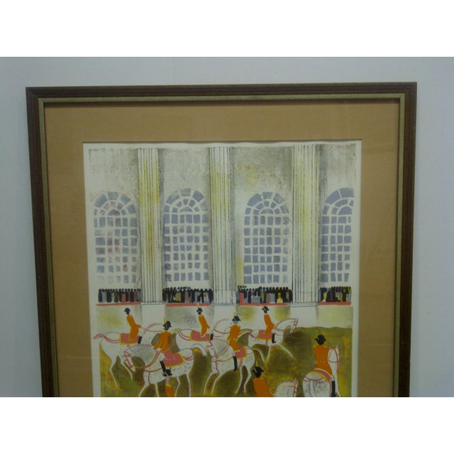 """English Traditional """"Horses on Parade"""" Framed & Matted Limited Edition Signed Numbered (186/375) Print For Sale - Image 3 of 8"""