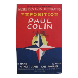1949 Art Deco Paul Colin Exhibition