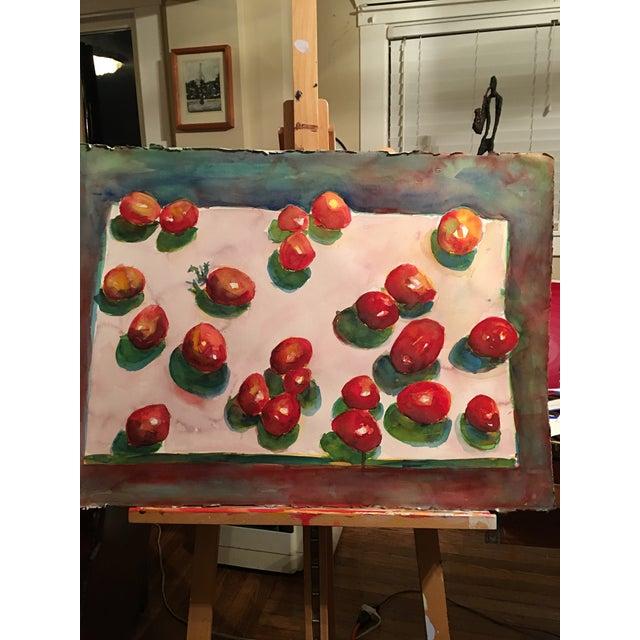 "Original ""Tomatoes"" Watercolor Painting - Image 7 of 7"