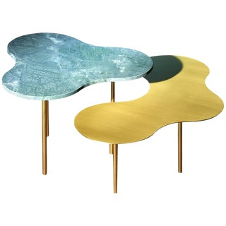 Glass Coffee Table Ensemble of 2 Sebastian Scherer For Sale