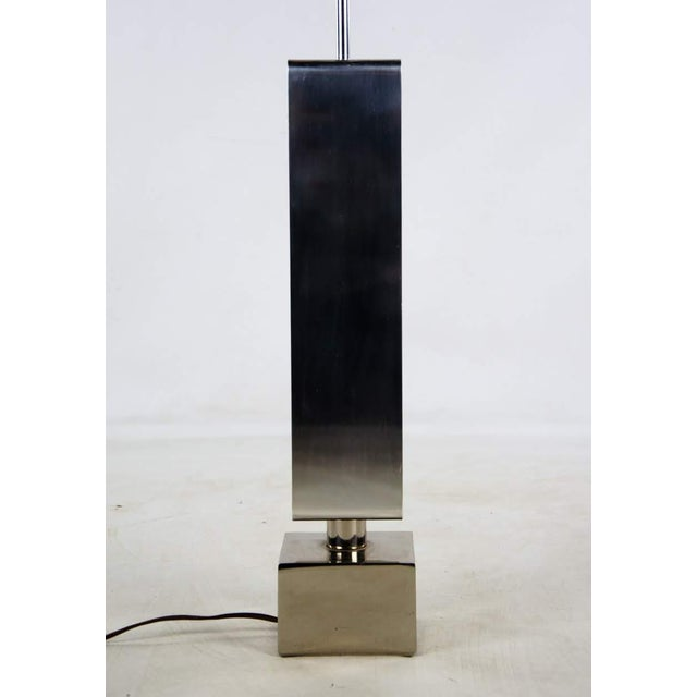 1970s Vintage Chrome and Lucite Table Lamp For Sale - Image 12 of 13