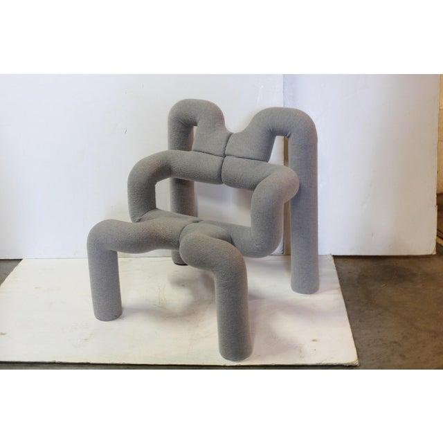 """Modern Vintage Terje Ekström Sculptural """"Ekstrem"""" Lounge Chair For Sale - Image 3 of 3"""