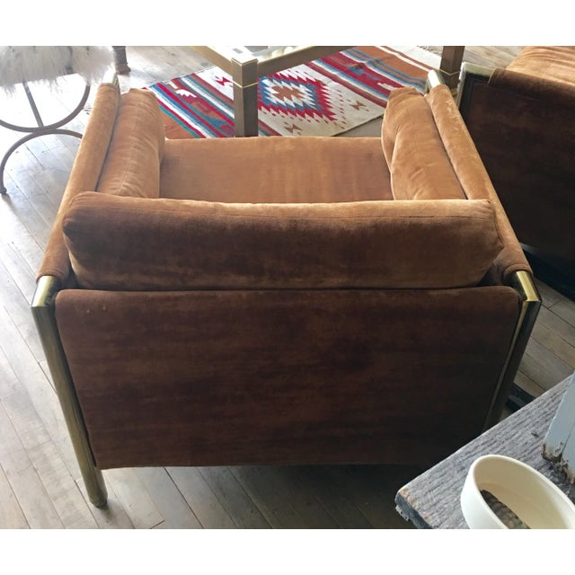 Milo Baughman-Style Brown Club Chairs - A Pair - Image 5 of 10