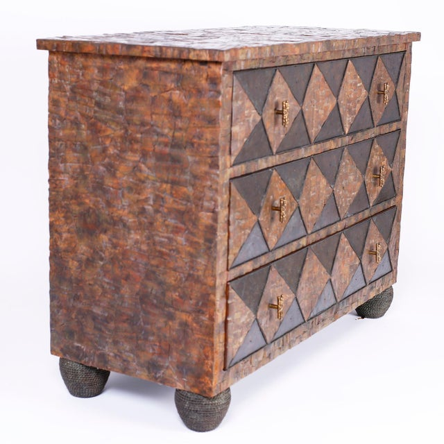 Mid 20th Century Coconut Chest of Drawers For Sale - Image 5 of 12