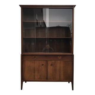 1950's Mid-Century Modern Drexel Counterpoint China Cabinet For Sale