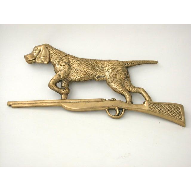 Brass Dog & Rifle Wall Hanging - Image 6 of 8
