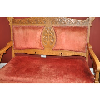 1900s Vintage Red Settee Preview