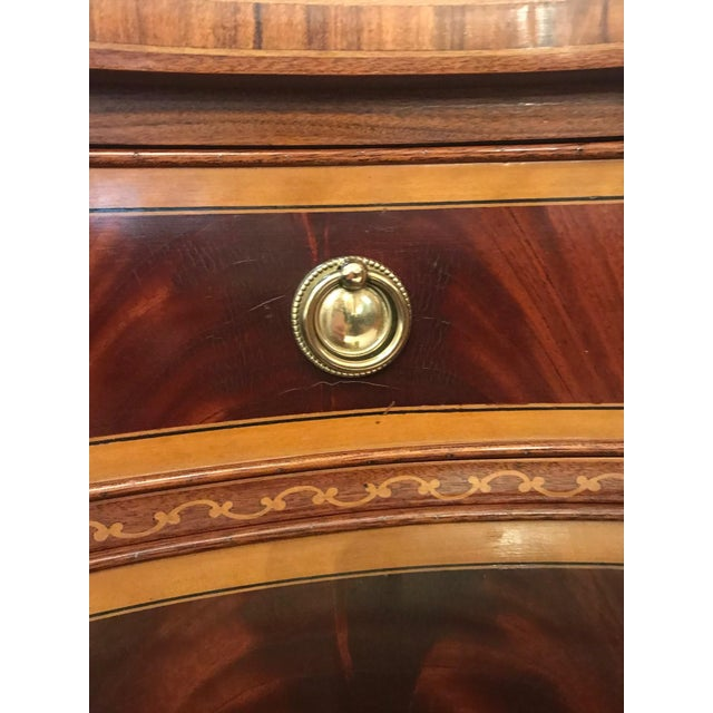 1980s Italian Colombo Mobili Superb Ornately Inlaid Mixed Wood Console For Sale - Image 9 of 11