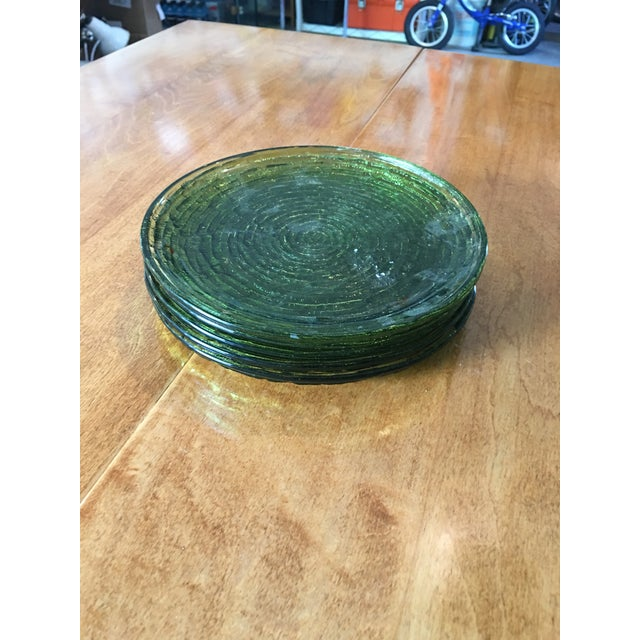 Vintage Libbey Rock Sharpe Olive Green Salad Plates- Set of 5 - Image 2 of 6