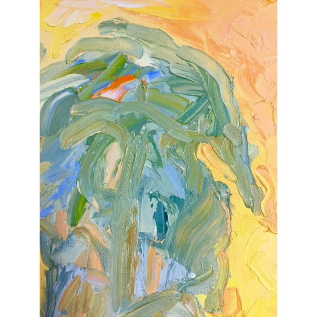 1970s 1970s Abstract Juan Guzman Palm Trees Landscape Oil Painting For Sale - Image 5 of 10