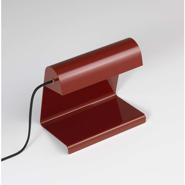 Jean Prouvé 'Lampe De Bureau' Table Lamp in Red for Vitra For Sale - Image 11 of 11