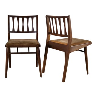 Holman Manufacturing Co. MCM Walnut Dining Chairs - A Pair