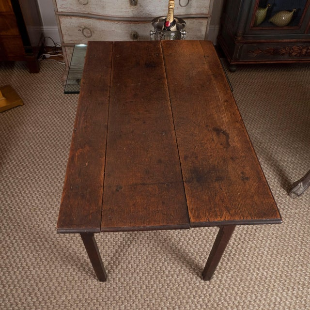 18th Century English Oak Side Table For Sale - Image 9 of 10