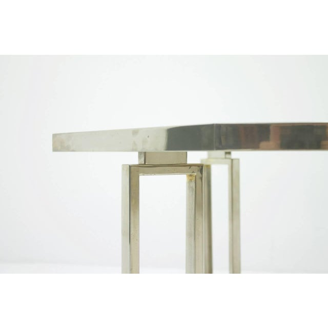 Hollywood Regency Octagonal Coffee Table With Metal Base and Glass Top, 1960s For Sale - Image 3 of 8