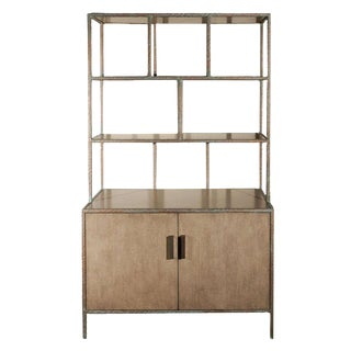 Paul Marra Bookcase in Faux Bronze For Sale