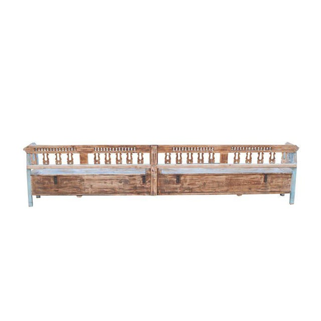 Very Long Painted Bench For Sale - Image 4 of 5