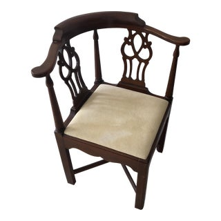 Vintage Chippendale Mahogany Corner Chair