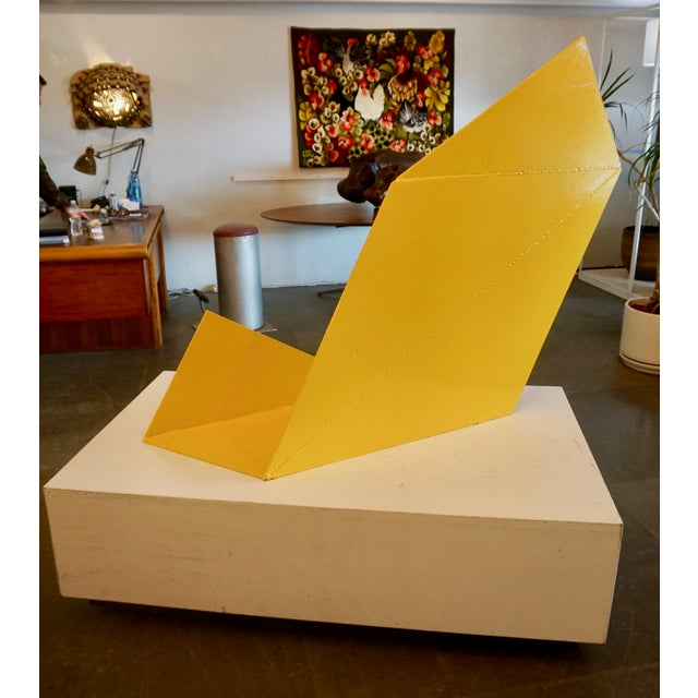 Abstract Abstract Steeel Sculpture by Betty Gold For Sale - Image 3 of 8