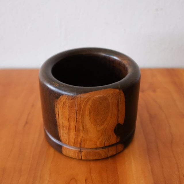 Mid-Century Modern Cocobolo Vessel by Mexican Modernist Don Shoemaker, 1970s For Sale - Image 3 of 7