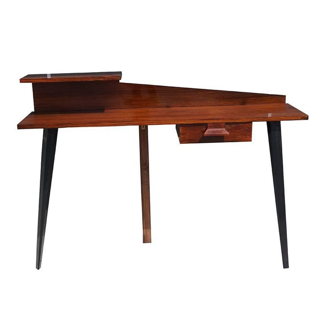 Mid 20th Century Mid-Century Modern Italian Rosewood Wall Desk For Sale - Image 5 of 5